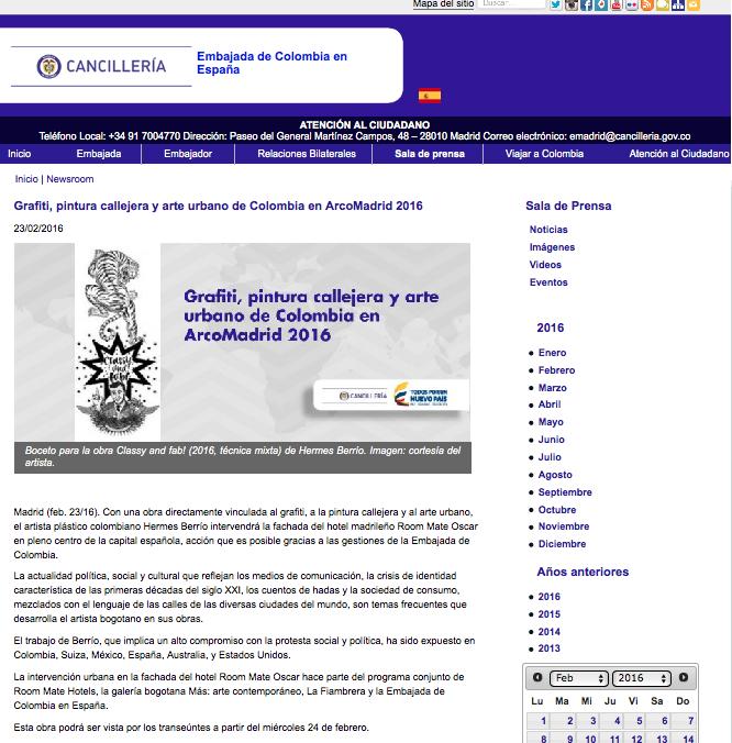 CANCILLERIA COLOMBIA